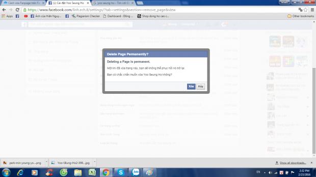 cách xóa trang trên Facebook