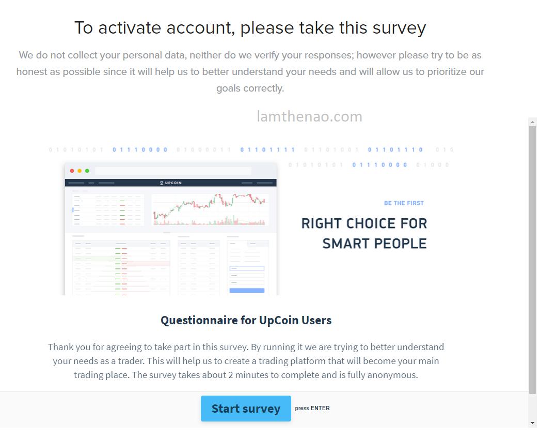 Hướng dẫn đăng ký Upcoin và nhận ngay 500$ miễn phí tài khoản giao dịch