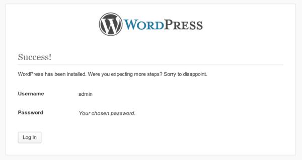 Wordpress FinishInstall21 600x319 Cách cài đặt WordPress trong 1 phút với VPS Digitalocean