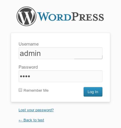Wordpress Login1 Cách cài đặt WordPress trong 1 phút với VPS Digitalocean