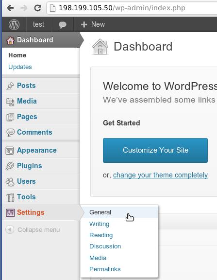 WordpressSettings11 Cách cài đặt WordPress trong 1 phút với VPS Digitalocean