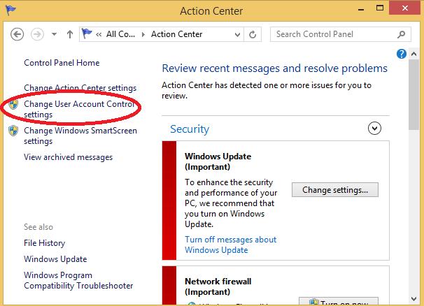 tat User Account Control tren windows 3