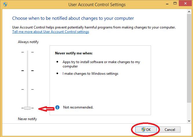 tat User Account Control tren windows 4