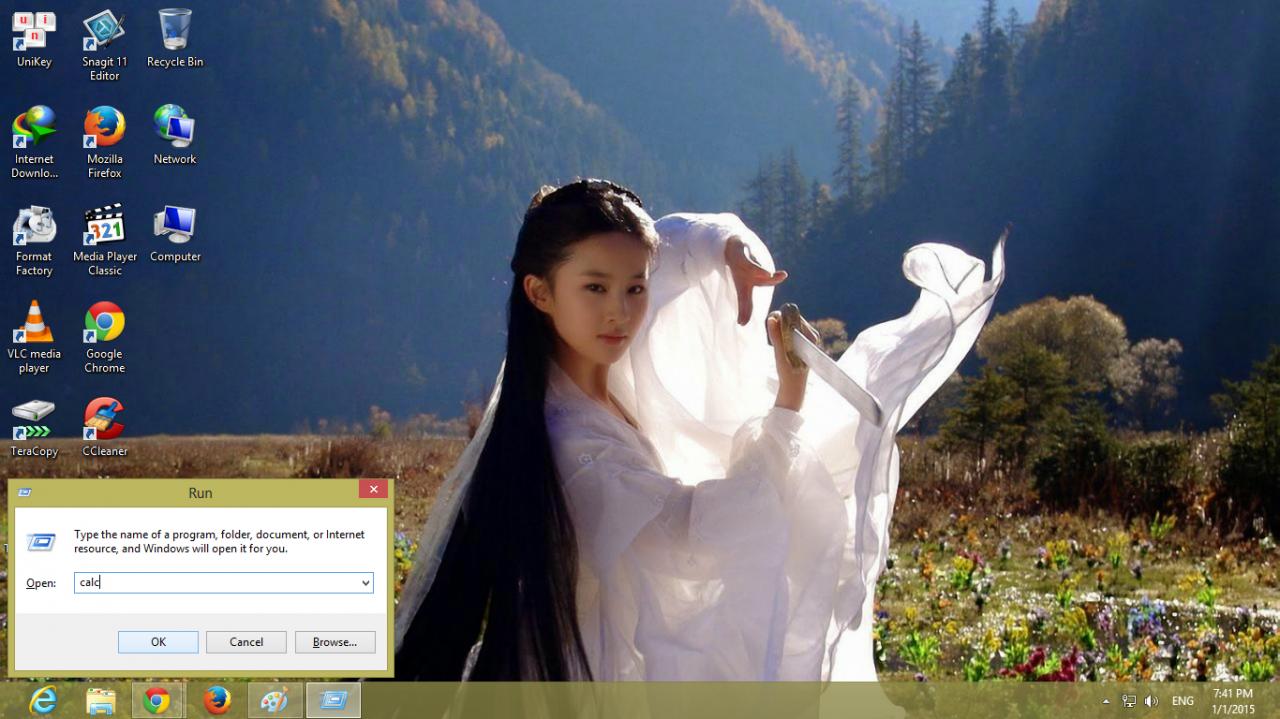 Calculator tren Windows 8 2