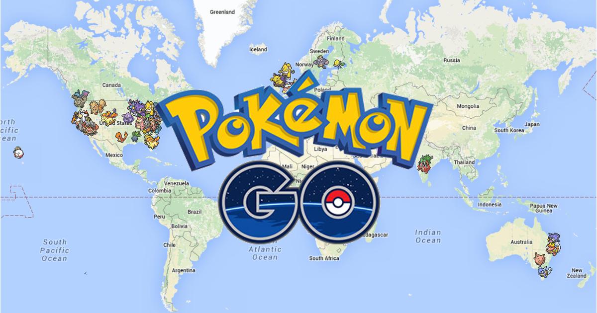 Kết quả hình ảnh cho bản đồ pokemon go thế giới