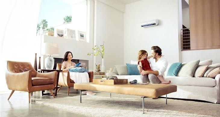 Máy lạnh giúp mang đến sự mát mẻ. dễ chịu cho cả nhà