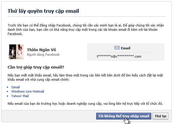 toi khong the truy cap email