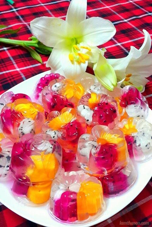 Thạch hoa quả ngọt mát cho ngày hè 1