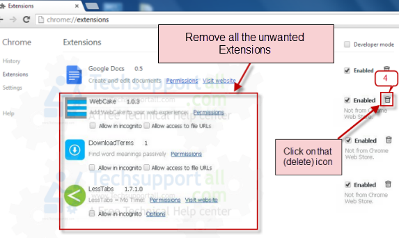 Google Chrome loại bỏ extensions2