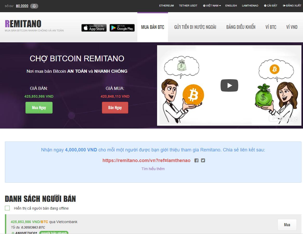 Hướng dẫn đăng ký tài khoản tài khoản Remitano để mua bán Bitcoin, Ether và USDT