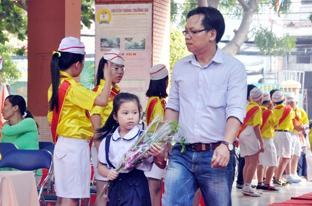 Kết quả hình ảnh cho bố mẹ đưa đi học