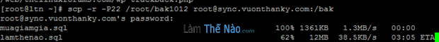 scp two server -motbit